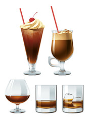 Brown alcoholic drinks