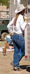 Cowgirl at a Rodeo
