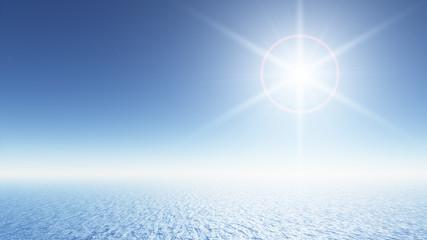 Weites Meer mit Sonne