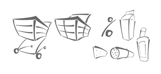 Vector icons for shopping