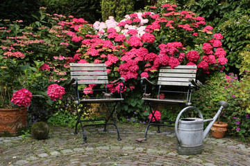 Still life in a german garden, please take a rest