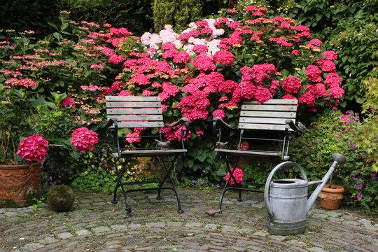Still life in a german garden, please take a rest