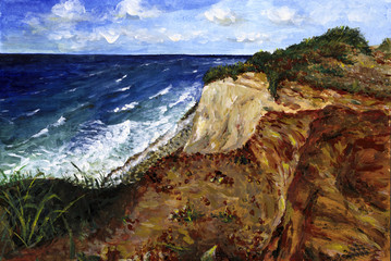 Ahrenshoop Steilküste - Echte Malerei - Ideal für Kunstdruck