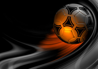 beautiful colour background with soccer ball. 3D render