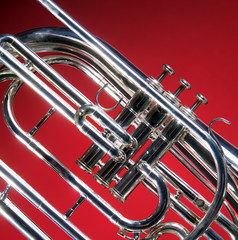 Marching French Horn Close