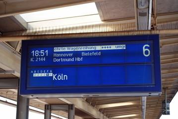 Zielanzeige für Züge