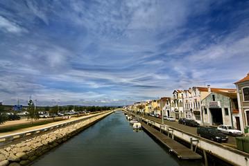 canal en aveiro, portugal
