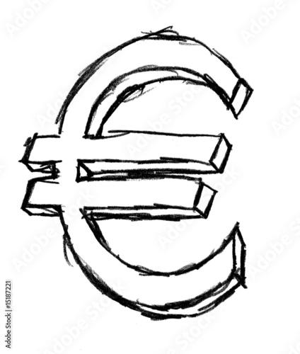 illustration symbole euro photo libre de droits sur la banque d 39 images image. Black Bedroom Furniture Sets. Home Design Ideas