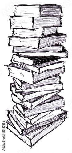 Illustration Pile De Livre Photo Libre De Droits Sur La