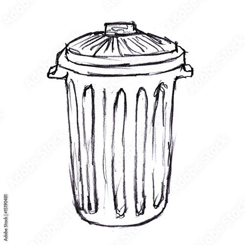 Illustration poubelle photo libre de droits sur la banque d 39 images image 15190481 - Dessin de poubelle ...