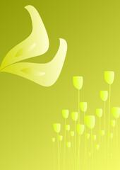 plantes abstraites, jaune