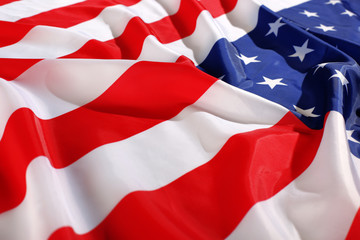 flappinf flag USA with wave