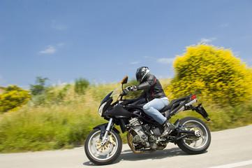 Fototapete - biker benelli