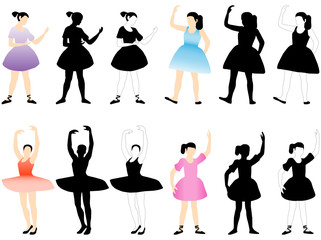 Illustration of ballerinas
