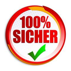 100% Sicher Button