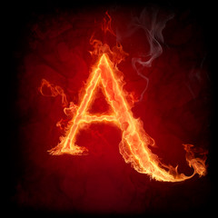 Fire letter A