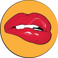 nipping lips
