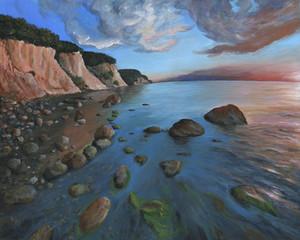 Jasmund Sunset - Echte Malerei - Ideal für Kunstdruck