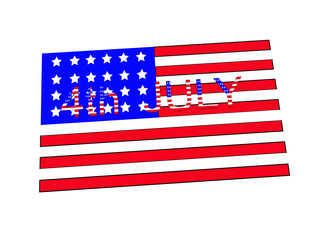 4th July On American Flag