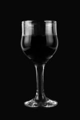 black and white wine glass