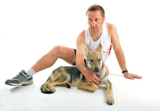 sportif et son chien