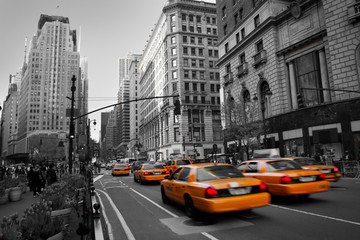 Tuinposter New York TAXI Taxies in Manhattan