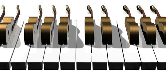 The guitar keyboard