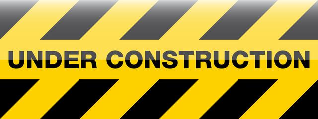 modern under construction sign