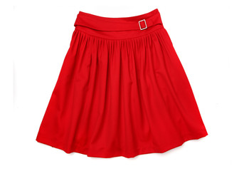 Red Designer Skirt