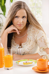Young woman on diet