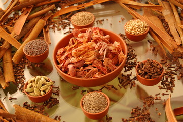 A composition of spices