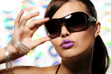 glamour girl with sunglasses