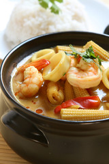 Yellow Seafood Curry