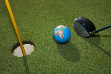 Planet golf game