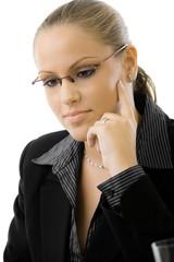Businesswoman thiking