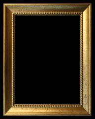 cadre doré sur fond noir