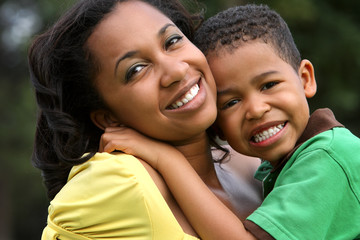 African American Mother and Child