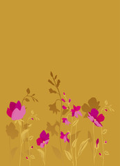 Pink flowers_bronze