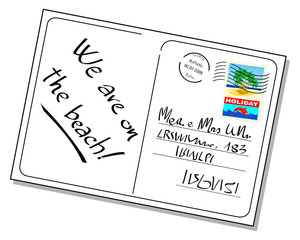 Cartolina con messaggio