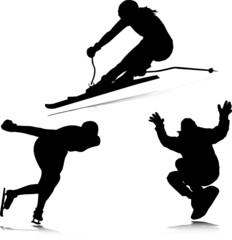 winter sport vector illustration