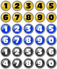 decimal numerals 0 to 9
