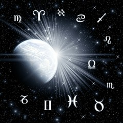 Twelve symbols of the zodiac and planet