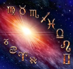 Twelve symbols of the astrology zodiac