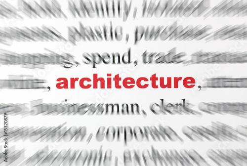 mot architecture lettre rouge texte flou photo libre de