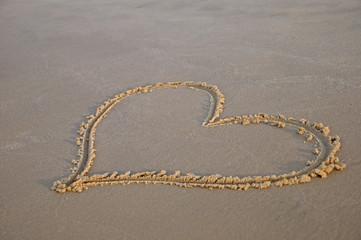 shortbread hearts on the beach