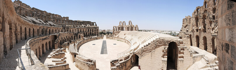 Canvas Prints Tunisia Amphitheatre of El Jem Tunisia