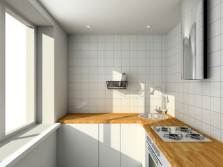 Interioir of modern kitchen