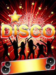 Disco-party card