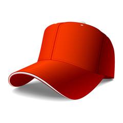 Red cap. Vector. Insert your logo.