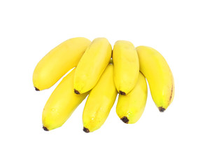 Bunch of mini-bananas .Isolated